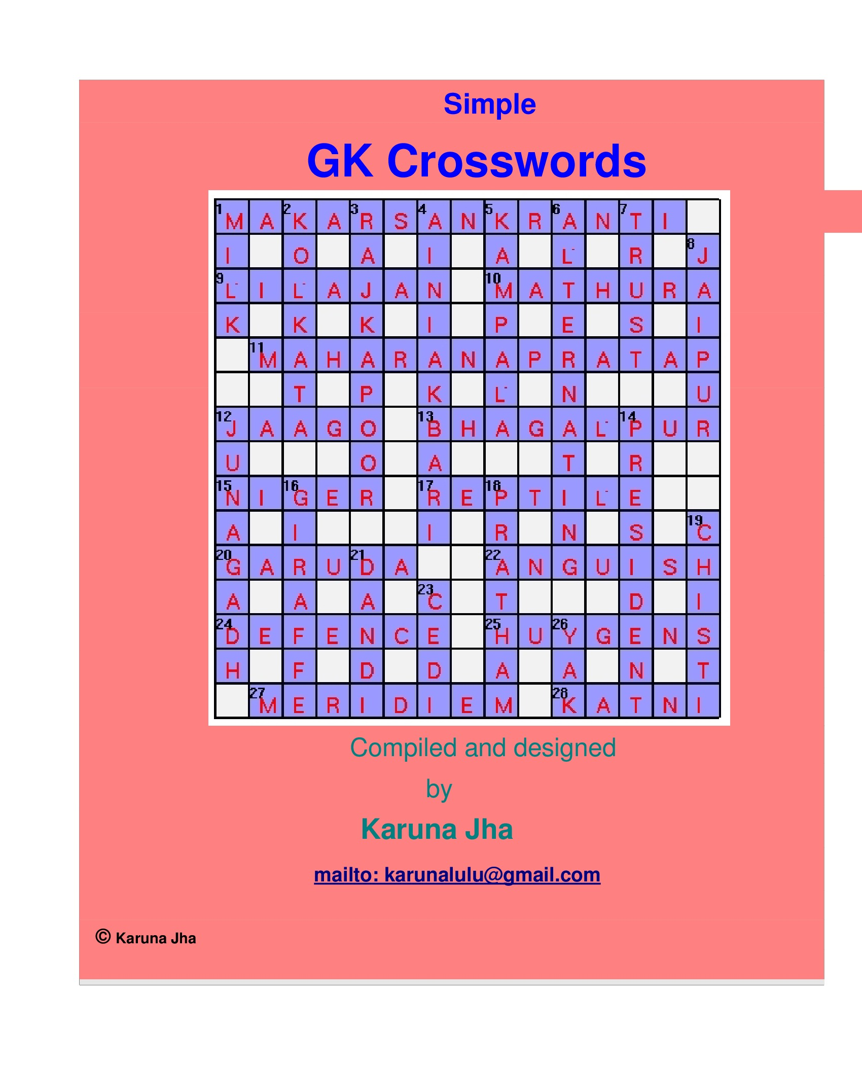 Crossword Dictionary Ebook