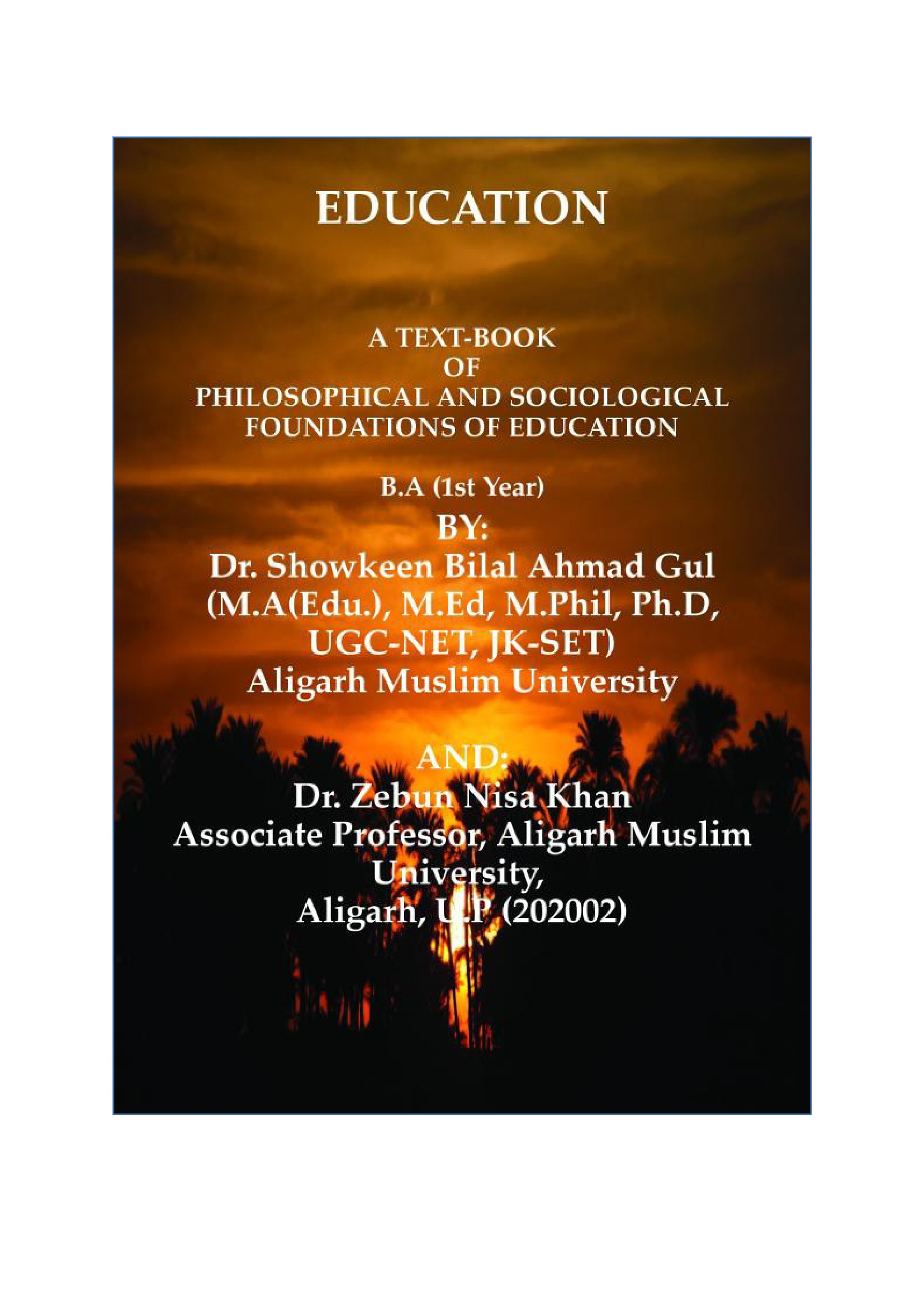 Philosophical Foundation Of Education Ebook