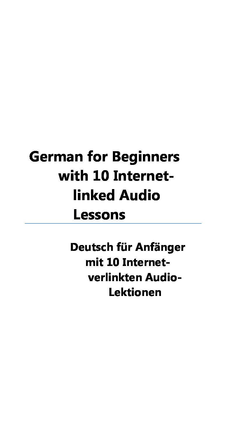 German For Dummies Ebook
