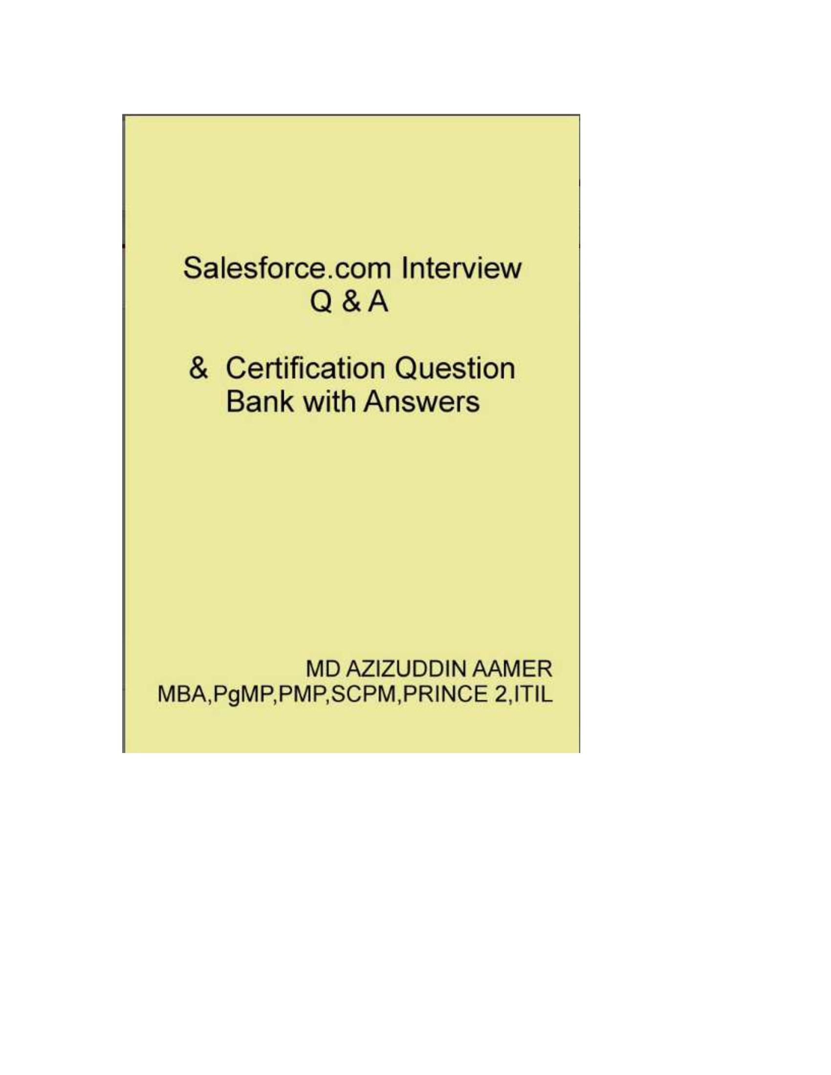 Salesforce Interview Q A Certification Question Bank With
