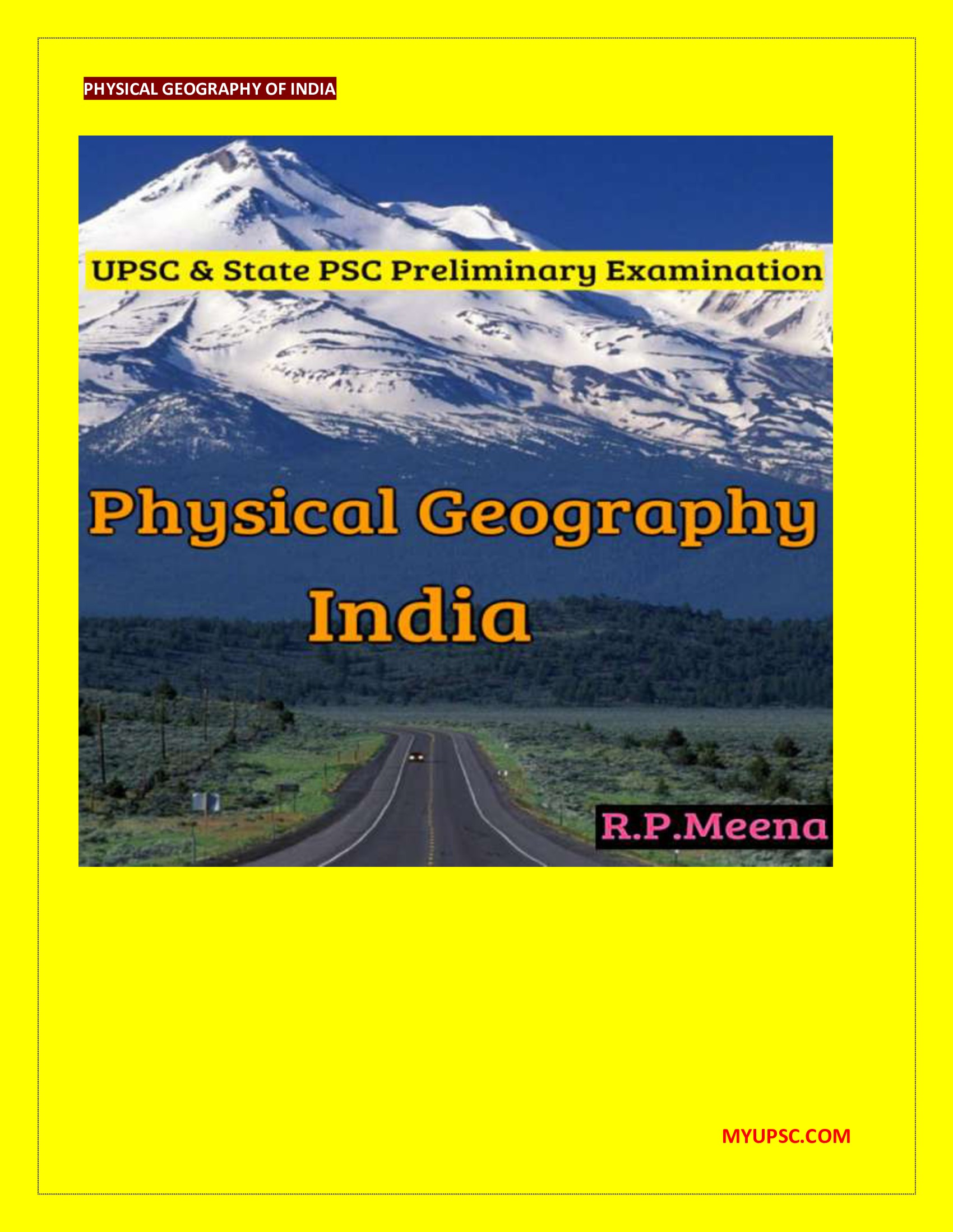 Geography Of India Ebook